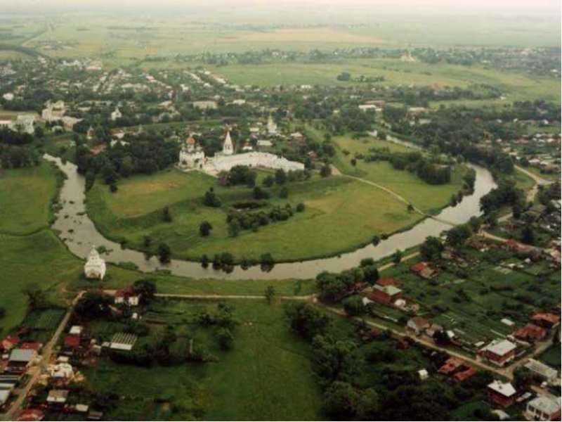 город Суздаль с высоты