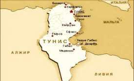 карфаген на карте