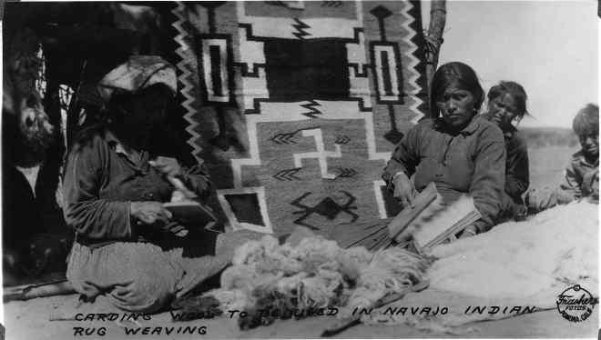 Свастика на ковре у индейцев навахо