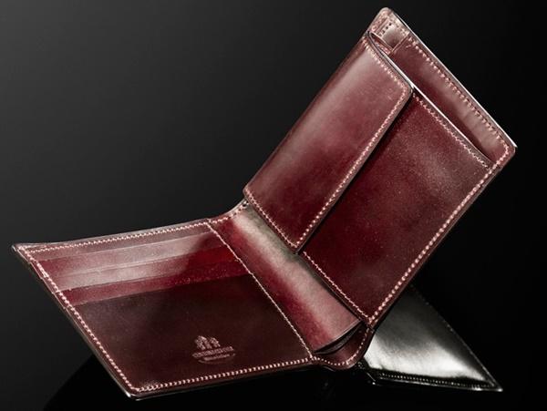 最強の表裏シェルコードバン二つ折り財布ジョンブル【送料無料】