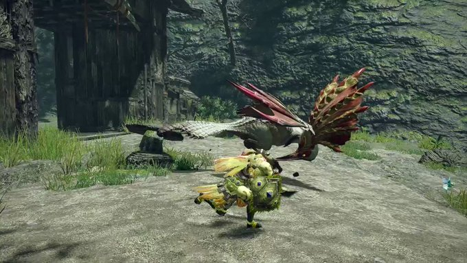 【話題】『モンスターハンターライズ』「映像見聞録 03」では翔蟲を使いダメージを受けたときに体勢を立て直す「翔蟲受け身」などスタイリッシュなアクションが公開!!