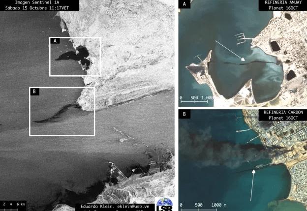 Las refinerías de Pdvsa del CRP continúan derramando hidrocarburos al Golfo de Venezuela