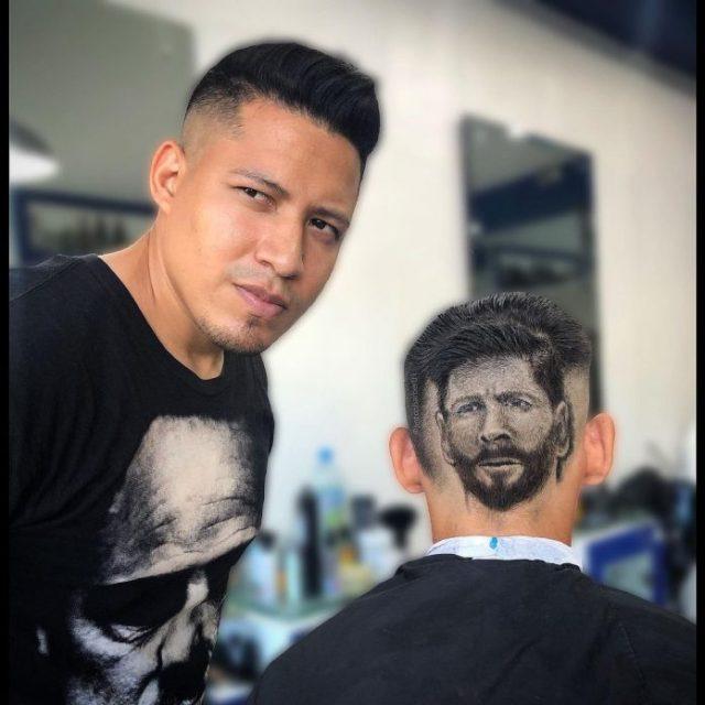 Barbero venezolano se vuelve viral luego de realizar el retrato de Messi en un corte de cabello