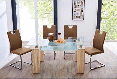 glastisch tisch küchentisch 140 x 90 cm mit ablage in sachsen ...