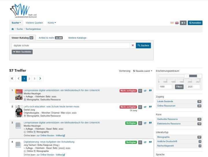 Screenshot 1 Bibliothek Dortmund DigiBib