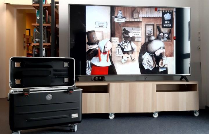 Tablettkoffer und TV