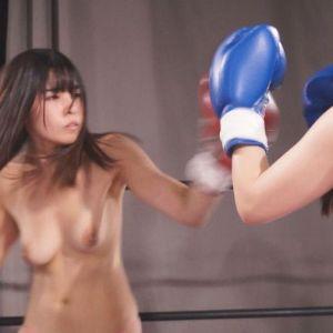 AV女優トップレス女子ボクシング!海空花に涼城りおなが人間サンドバックにされ腹パンチ!!