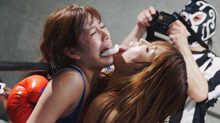 秋葉原地下女子ボクシング!人気AV女優6人がガチバトル中にレズプレイでセクシーに喘ぐ!?