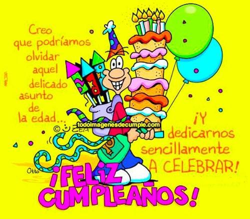 felicitaciones de cumpleaños graciosas