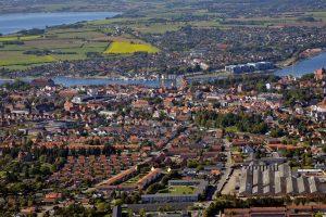 Sønderborg centrum set fra luften