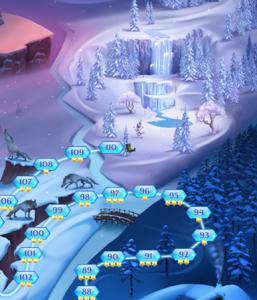 アナと雪の女王 Free Fall ステージ110