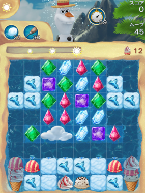 アナと雪の女王 Free Fall 無限 ステージ27 攻略のコツ
