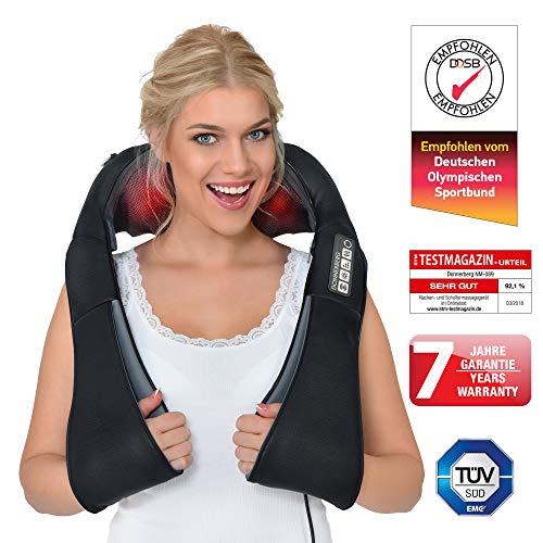 Donnerberg® DAS ORIGINAL Nackenmassagegerät mit Wärme | Schulter Massagegerät für Nacken Schulter Rücken | Muskel Schmerzen | 3D-Rotation Massage | TÜV | 7 Jahre Garantie | Haus Büro Auto