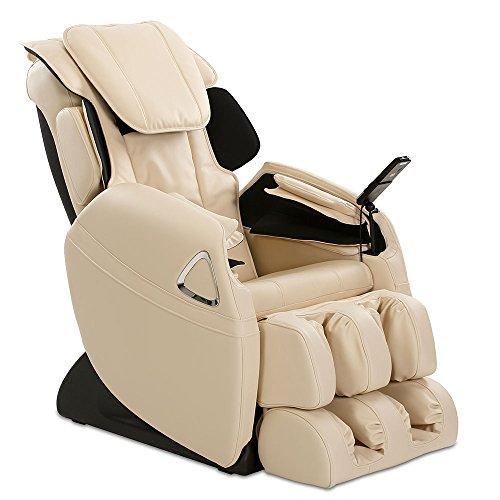 aktivshop Massagesessel Holiday Fernsehsessel Entspannungssessel Relaxsessel mit Shiatsu-Massage & Wärmefunktion (Creme)