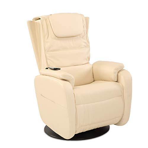aktivshop Massagesessel Fernsehsessel TV-Sessel mit Wärmefunktion & Shiatsu-Massage (Creme)