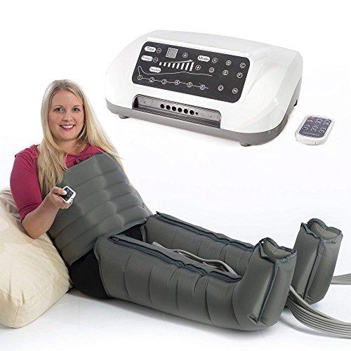VENEN ENGEL® 6 PREMIUM Massage-Gerät für Bauch & Beine :: 6 Luftpolster je Bein & 6 Programme für intensive Druckwellen-Massage :: inkl. Fernbedienung, Top-Kundenservice & Qualität