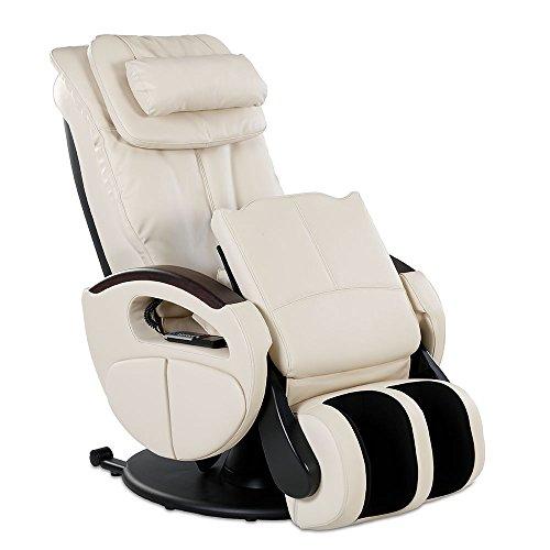 Massagesessel »Komfort Deluxe« mit elek. Aufstehfunktion, Shiatsu-Massage, Wärmefunktion, 4 Massagetechniken, 6 Massagezonen, Transportrollen, inkl. Kopf- & Nackenkissen (Creme)