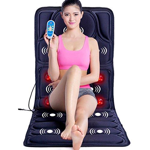 LJ Multifunktions Ganzkörpermassage Massage-Matte, Hyperthermie-Massagegerät, zusammenklappbar, Beige, blaue Farbe, 165 * 58 cm ( Farbe : Blau )