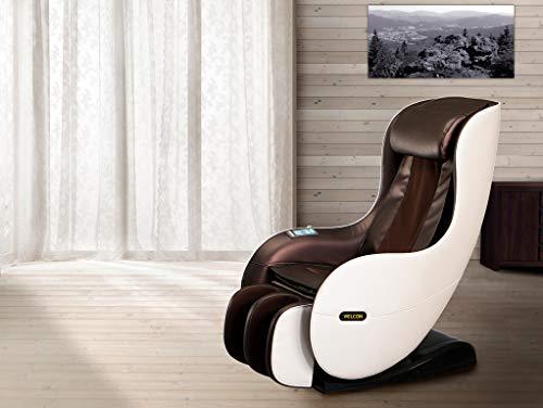 WELCON Massagesessel EASYRELAXX in beige/braun mit Wärmefunktion, L-Shape, Automatikprogramme Knetmassage Klopfmassage Rollenmassage Airbagmassage Kompression