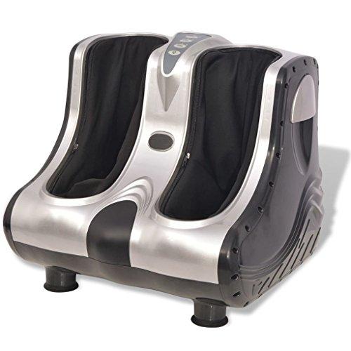 vidaXL Shiatsu Fuß- und Wadenmassagegerät Fußmassagegerät Massagegerät Silber