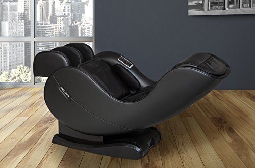 WELCON Massagesessel EASYRELAXX in SCHWARZ mit Wärmefunktion - unser Neuer Massagestuhl - Neigungsverstellung elektrisch L-Shape Automatikprogramme Knetmassage Klopfmassage Rollenmassage