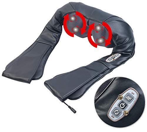 newgen medicals Nackenmassagegerät: Shiatsu-Massagegerät für Nacken und Schulter, IR-Tiefenwärme, 24 Watt (Rückenmassagegerät)