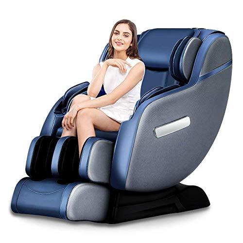 Real Relax 2018 3D Massagesessel mit wärmefunktion Roboter SL-Track Shiatsu Relaxsessel platzsparender Zero Gravity Ruhesessel für Ganzkörper mit Fußrollen