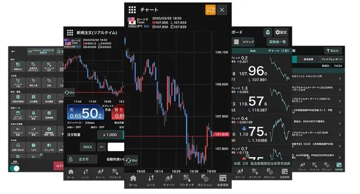 外貨exデモアプリの画像例
