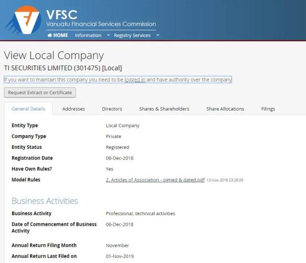 VFSCの公式サイト
