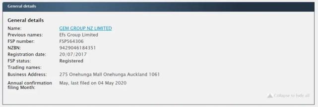 ニュージーランドの金融ライセンス