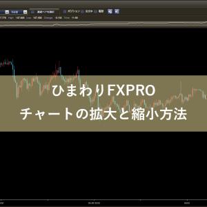 ひまわりFXPROチャートの拡大と縮小方法