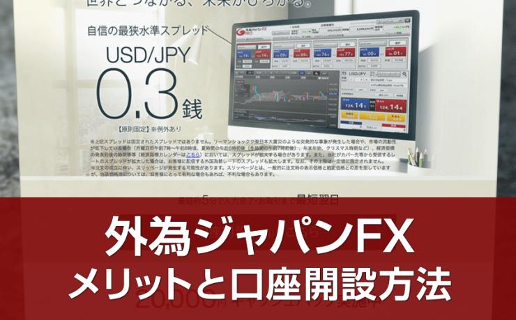外為ジャパンFXの口座開設