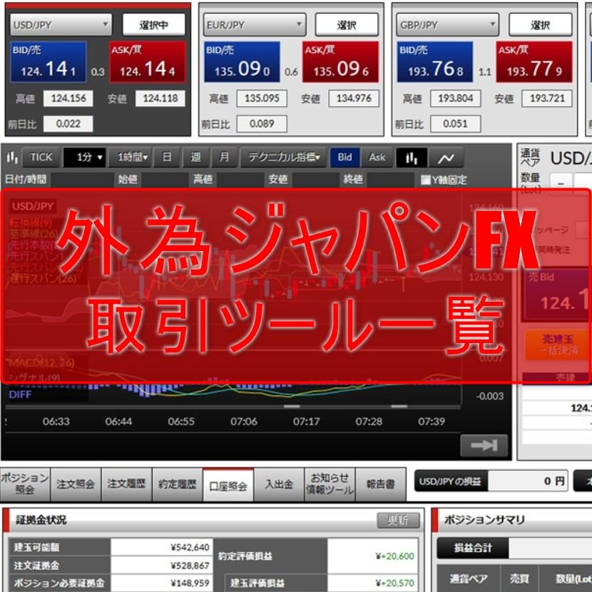 外為ジャパンFXの取引ツール