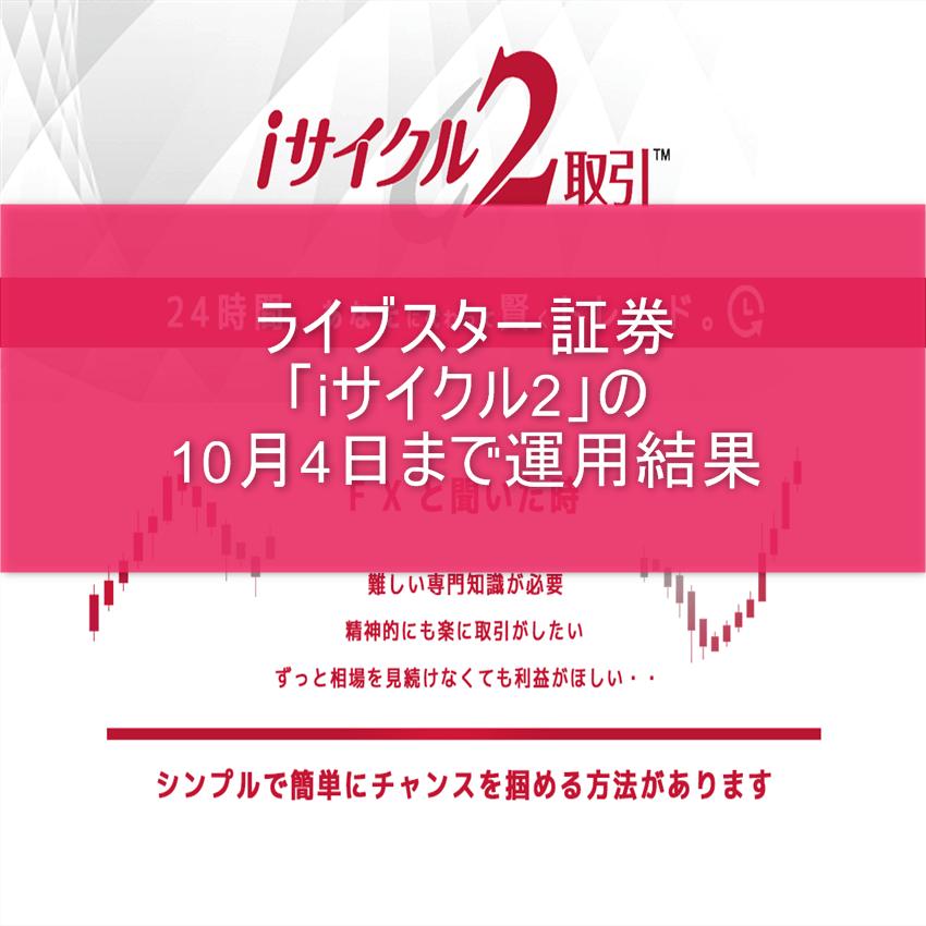 ライブスター証券「iサイクル2」の10月4日まで運用結果