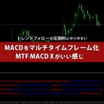 マルチタイムフレームのMACDをバー表示するMTF MACD X