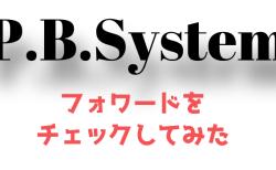 使用中のEA『P.B.System』