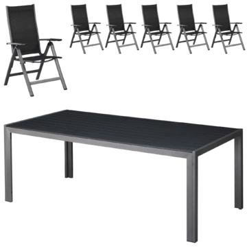 ᐅᐅ】Gartenmöbel-Set Las Vegas (100x205, 6 Stühle) - große Auswahl ...