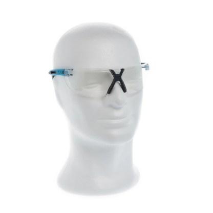 Uvex X-fit Pro Schutzbrille Klar Blauer Bügel