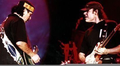 Javier Vargas y Carlos Santana