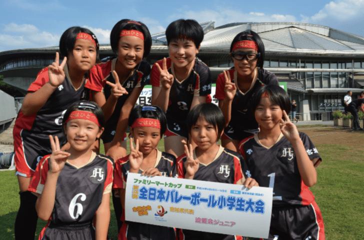 登米市 迫愛会Jr.バレーボールスポーツ少年団 全国大会ファミリーマートカップに挑戦