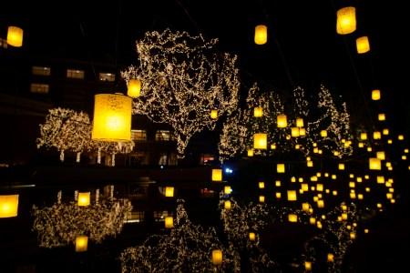 まちナビ12月号(103号)読者プレゼント|2018年冬の仙台ロイヤルパークホテルのガーデンは、ランタンとイルミネーションが温かく灯ります。