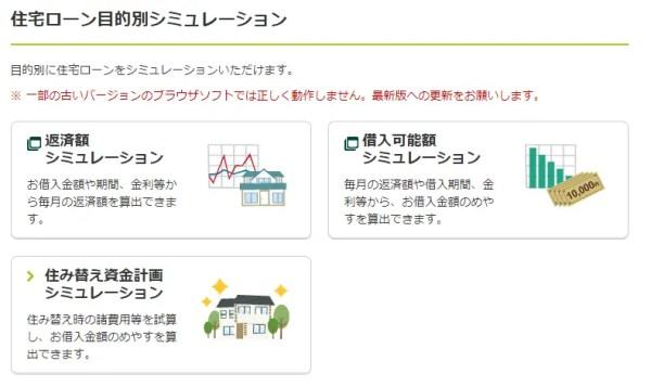三井住友銀行住宅ローンシミュレーション