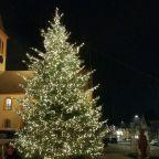 Weihnachtsbaum im Lichterglanz