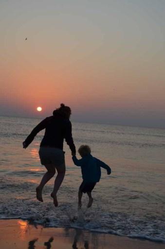Sonnenuntergang, Henne Strand, Dänemark