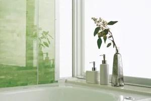 ユパティオの浴室の壁は軽く拭くだけでお掃除OK!アクリルコーティング仕様