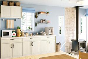 4.窓を多くするとキッチンイメージが北欧風へとガラリと変わる!