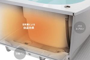 エブリィの浴槽はお湯が冷めにくい高断熱浴槽