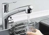 浄水器付きハンドシャワー水栓