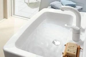 洗面ボウルは間口600ミリと750ミリ