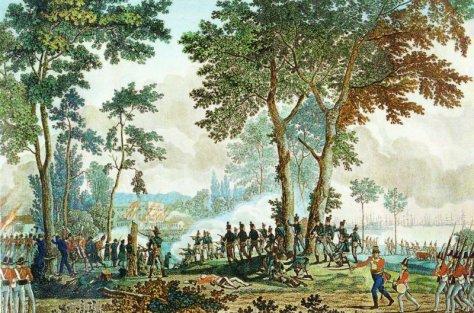 udfaldet i Classens Have 1807. Tegning af Eckersberg og Lahde